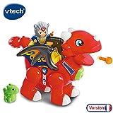 VTech - Tut Tut Copains William gentil dragon flamme - Dragon rouge interactif + chevalier (519605)
