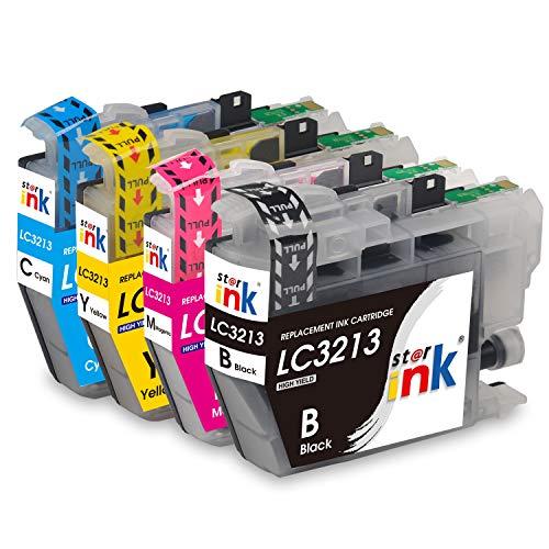 Starink 4 Pack Kompatibel für Brother LC-3213 LC3213 LC 3213XL Tintenpatronen für Brother MFC-J890DW MFC-J895DW DCP-J772DW DCP-J774DW MFC J890DW J895DW J497DW DCP J772DW J774DW J572dw Patronen