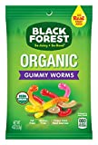 Black Forest Organic Gummy Worms Candy, 4 oz