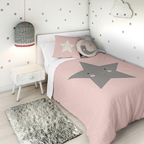 HACIENDO EL INDIO Funda nórdica Happy Star Cama 90 cm