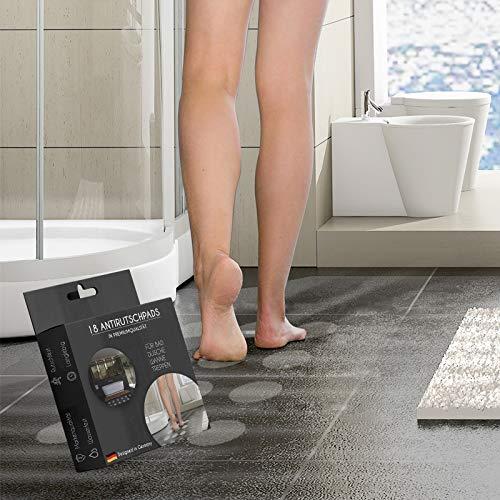 Antirutschpads für Badewanne, Dusche und Treppen | 18 Stück Rund 10cm Ø | rutschfeste Aufkleber für Badewannen und Duschen (Rund 10cm Durchmesser) Anti-rutsch-Pads selbstklebend für Bad und Dusche