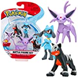NEW Pokemon Battle Figure Set Espeon Houndour and Riolu
