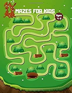 Mazes for Kids Ages 4-8: Maze Books for Kids ages 8-10, 4-8 (Include Object & Dinosaur Mazes) Fun and Challenging Mazes, Maze for Kids Workbook Game For Developing Problem-Solving Skills