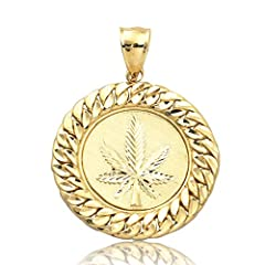 CHAIN IS NOT INCLUDED MADE IN REAL 10-KARAT GOLD - Our product is made in real 10-karat gold. It is very durable and sturdy. 100% satisfaction guaranteed and great Quality! All of our merchandise are crafted and stamped in 10K for authenticity. PERFE...