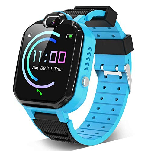 Kids Smartwatch for Boys Girls – Smart Watch for Kids with Phone Calls 7 Games Mp3 Music Player Camera SOS Phone Watch for 4-12 Years Old Students Children Christmas Birthday Gift (Blue)