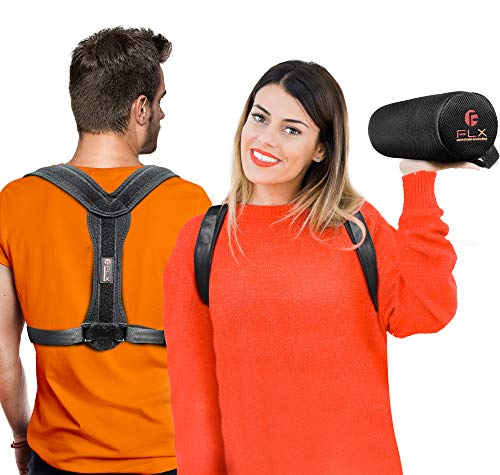 Posture Corrector Bundle for Men and Women with Lumbar Support Cushion – Amazing Back Brace Straightener for Neck Support, Shoulder Support and Back Pain Relief (Medium)