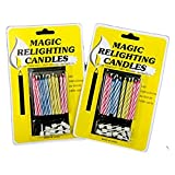 20pcs Funny Magic Trick Relighting Candle Birthday Cake Decors Party Joke Xmas Gift