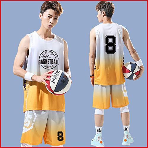 SYXBB-Lampe Los Hombres de la NBA Michael Jordan Juvenil # 8 Chicago Bulls Baloncesto de Jersey, Deportes Camiseta,Pink + Purple,2XL