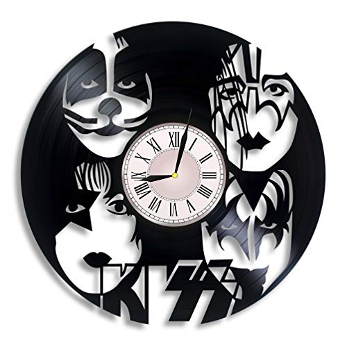 Kiss Band Vinyl Wall Clock, Kiss Gift for Any Occasion, Christmas, Birthday, Holiday