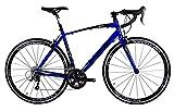 Tommaso Monza Endurance Aluminum Road Bike, Carbon Fork, Shimano Tiagra, 20 Speeds, Aero Wheels - Blue - Small