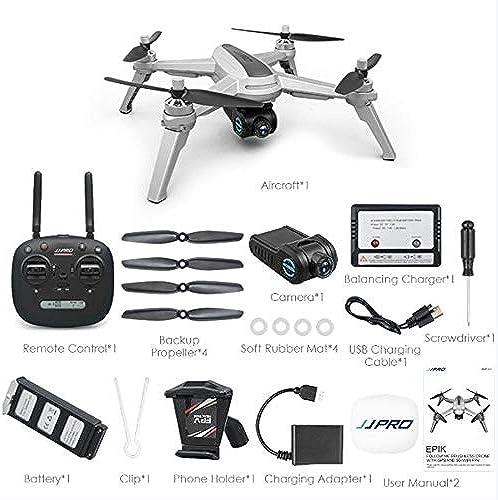 SEXTT Remote-Drohne mit Einstellbarer 1080P HD-Weißwinkelkamera und GPS-Echtzeit-Bildübertragung mit Echtzeit-WiFi, Drohnen-Quadcopter