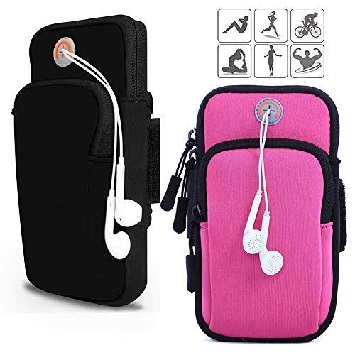 Armband Armtasche, Rennen Outdoor Armband Handytasche Multifunktionale Doppel Armtasche Armbinde für Handy Bis zu 6.0