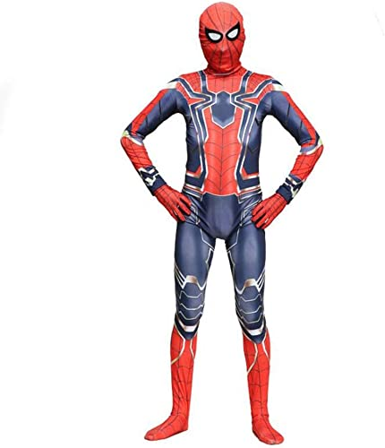 CSCLO Spider-Man Costume Cosplay Avengers Iron Spider-Man Adulte HalFaibleeen DéguiseHommests Costume Film Show Costume Accessoires DéguiseHommest