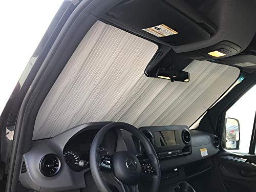HeatShield, The Original Windshield Sun Shade, Custom-Fit for Mercedes-Benz Sprinter Crew Van (Cargo) w/Lane Keeping Assist 2019, 2020, Silver Series