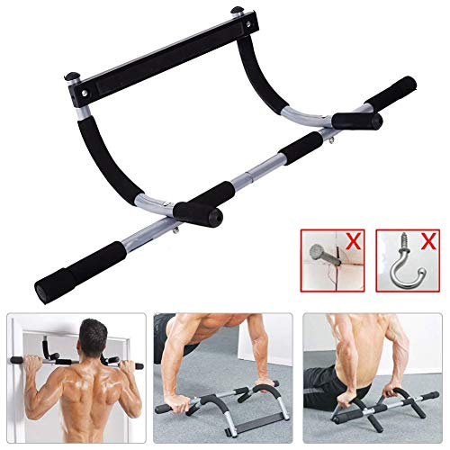 Pull Up Bar Adult Chin Up Bar Push-Ups Fitness Bar Pull Rod on The Door Multifunctional Grip Door Portable Gym Arm Pull Trainer Home Gym