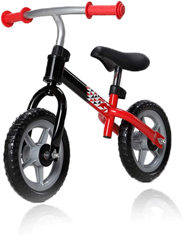 moda YSH Balance Bike Steel Steel Steel Kids Niños Montando Bicicleta Niños Aprenden A Andar Deportes Desmontable Paseo En Juguetes,rojo  mejor marca