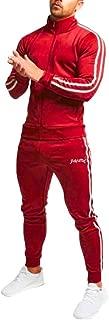 Men Tracksuit Set Slim fit/Autumn Zipper Print Pullover Pants Sets Sport Suit
