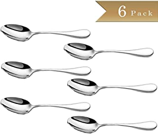 yasheng Demitasse Espresso Mini 18/10 Stainless Steel Bistro Spoon 12.5 cm (4.9 Inch), Set of 6