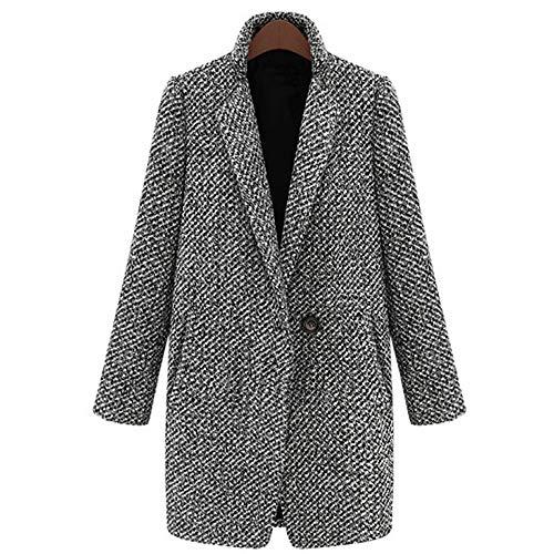 ZatRuiZE Mujer Cárdigan de Punto Casual con Botones Bolsillos Laterales Chaqueta Térmica Abrigo Jersey de Manga Larga