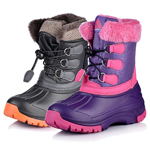 Nova Mountain Boy's and Girl's Waterproof Winter Snow Boots