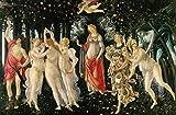 GUIBSGS FGVB Pintura Famosa Primavera de Sandro Botticelli, Cuadro sobre Lienzo para Pared, impresión en Lienzo, póster artístico, Imagen Decorativa para Sala de Estar, 60x80 cm sin Marco