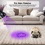 Pet Urine Detector Light Handheld UV Black Light Flashlight Portable Dog Cat Urine Carpet Detector Super Bright 51 LED UV Light for Pet Stain, Minerals, Automotive Leak Detection or Scorpion Hunting 14