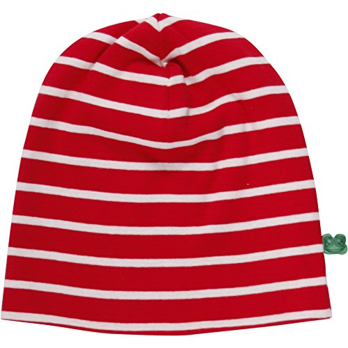 Fred's World by Green Cotton Unisex Baby Stripe Beanie Mütze, Rot (Red/Cream 019800008), (Herstellergröße: 92/98)