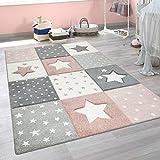 alfombra estrellas rosa