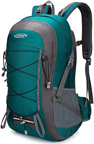 G4Free 45L Hiking Backpack with Rain Cover Lightweight Trekking Rucksack Waterproof Shoulder Daypack Travel Outdoor Bag for Men Women