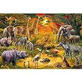 assoluto Rompecabezas De Reunión De Animales, Juguetes De Fotografía En Caja Pintura De Arte De Juego, Rompecabezas De Alivio del Estrés para Adultos Y Niños(Size:1000 Piezas)