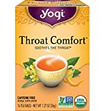 Yogi Tea - Throat Comfort (6 Pack) - Soothes the Throat - 96 Tea Bags Total