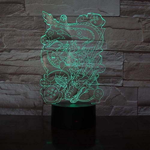 Wukong Totem Acrylic 3D Night Light USB led desk lamp touch control home lamp new LED lighting gift-Bluetooth