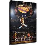 Ghychk Baloncesto Pop Art L-eBron-James Los Ángeles - Pintura moderna para pared del hogar, decoración de la sala de estar, dormitorio, enmarcado listo para colgar, 61 x 91 cm
