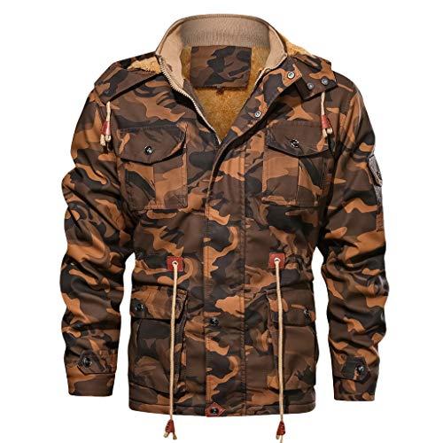Briskorry camonflage jacken herren Herbst Winter Jahrgang Reißverschluss Kapu zenpullover Kunstleder Jacket Mantel Vintage biker jacken Hoodie Coat