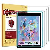 OMOTON [ 3 Stück Panzerglas Schutzfolie für iPad 2018 / iPad 2017 / iPad Air/iPad Pro 9.7 Mit Positionierhilfe (9H, blasenfrei, transparent)