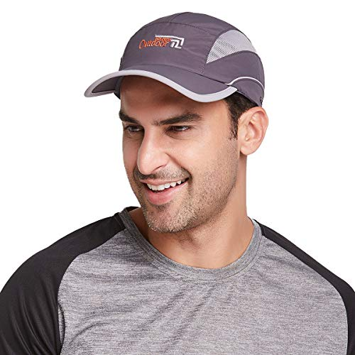 Gisdanchz Sonnenschutz Kopf Schirmmütze Damen Laufmütze Kopfbedeckung,Laufcap Basecap Herren Sommermütze,Running Baseball CapOutdoor Breathable Waterproof Summer Sport Hat for Man Women,Dunkelgrau