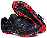 KUXUAN Calzado de Ciclismo para Hombre,Zapatos de Montar en...