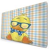 CIKYOWAY Alfombrilla de Ratón Gaming Hipster Boho Baby Duck Lazo Punteado Cool Free Spirit Smart Geese Antideslizante para Gamers Oficina PC Portátil Ordenador