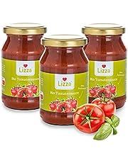Lizza Organic Tomato Sauce   Italian Herbs   No Added Sugar   No Artificial Additives   Gluten-Free & Vegan   100% Organic   3x 250ml Jars (Good for 6 Pizzas or 9 Pasta Meals)