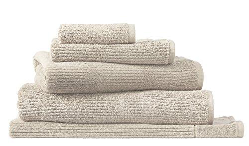 HLS - Sheridan Sheridan Living Textures - Toallas de Algodón Puro con Diseño de Rayas, Pumice, Face Towel