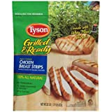 Tyson Fully Cooked Boneless Skinless Chicken Breast Strips with Seasoned Rib Meat , 1.375 Pound -- 8 per case.