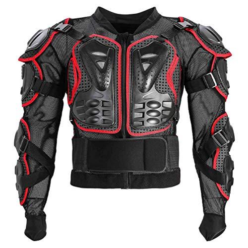 BESPORTBLE Motocicleta Armadura de Cuerpo Completo Espina Protección del Pecho Equipo Motocross Motos Protector Motocicleta Chaqueta Rojo Talla S