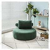 XIAOSAKU Sofás Relax Pequeño apartamento nórdico Soporte Individual Sofá Sala de Estar Dormitorio Balcón Ocio Lazy Tatami Pie Sofa Silla Lazy Sofa (Color : Green Fabric)