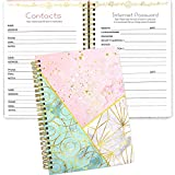Contacts and Password Notebook Keeper Journal 8.25' X 6' Address Book...