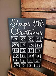 Christmas Chalkboard countdown, Christmas countdown, Sleeps Till Christmas