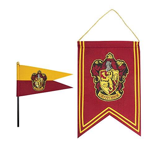 Cinereplicas Harry Potter - Set Bannière et Drapeau - 30 x 43cm - Officiel (Gryffondor)
