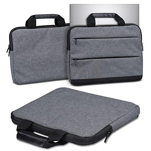 Nauci Schutzhülle Odys mybook 14 Laptop Tasche Sleeve Case Notebooktasche Hülle in Grau 14 Zoll Tragetasche mit Griffen Universal Laptoptasche, Farbe:dunkel Grau