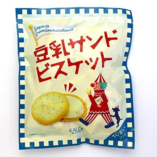 キャメル珈琲 カルディオリジナル 豆乳サンドビスケット 10枚 カルディコーヒーファーム [4844]