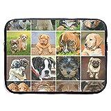 Hundebaby-Foto-Sammlung 15 Zoll-Laptop-Hülsen-Beutel-beweglicher Reißverschluss-Laptop-Beutel-Tablette-Beutel