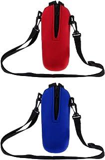 Prettyia 2pcs Sports Water Bottle Holder Sleeve Bag Neoprene Carry Pouch Case 750ml